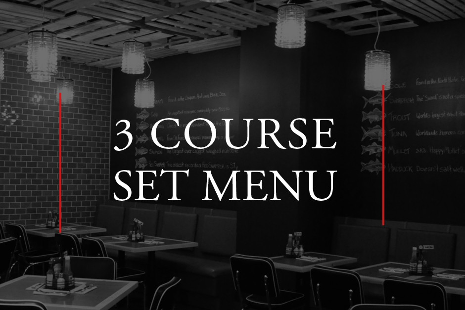 A 3 Course Menu | The Fish Shack