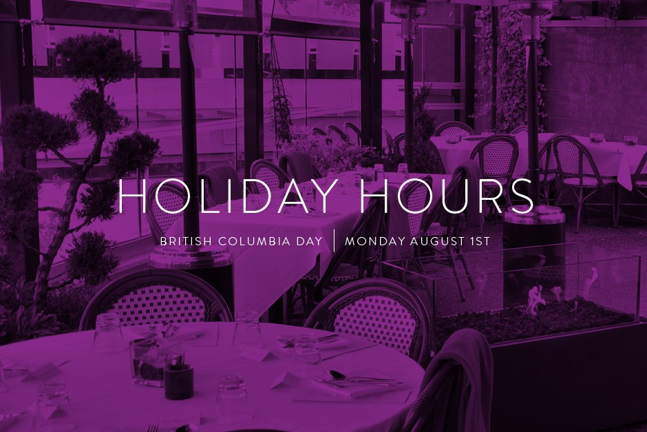 BC Day Holiday Hours
