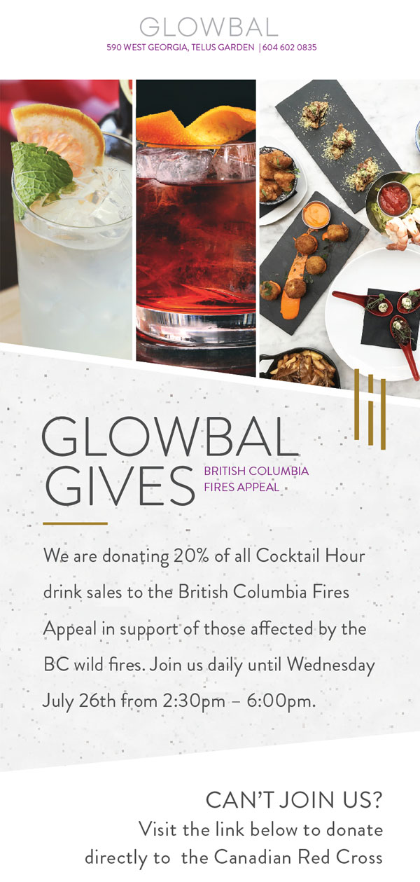 Glowbal Gives with Cocktail Hour!