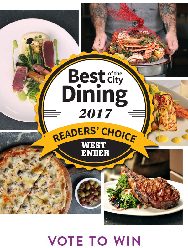 Vote Now & Win With Westender's Best Of The CityDining